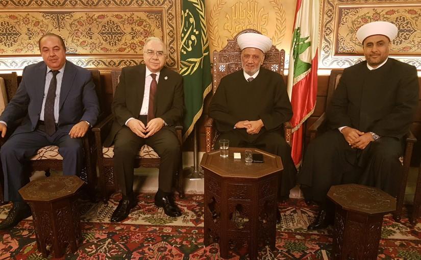 Mufti Abdel Latif Derian Meets a Delegation From Al Baraka Bank