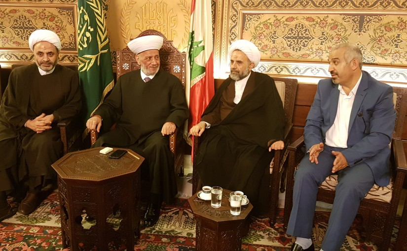 Mufti Abdel Latif Derian Meets a Delegation From Al Mabarat Association