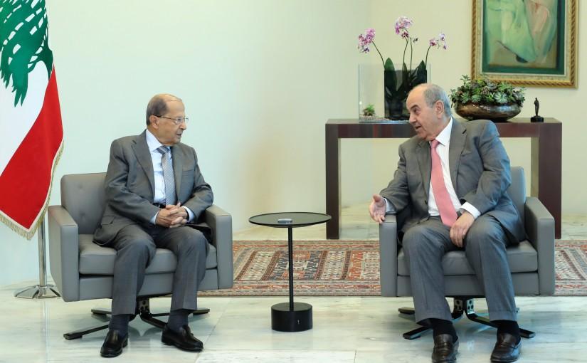 President Michel Aoun Meets Iraqi Vice President Iyad Alaoui
