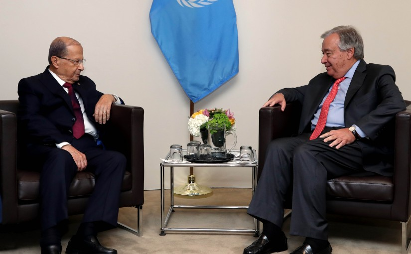 President Michel Aoun Meets United Nations Secretary-General Antonio Guterres