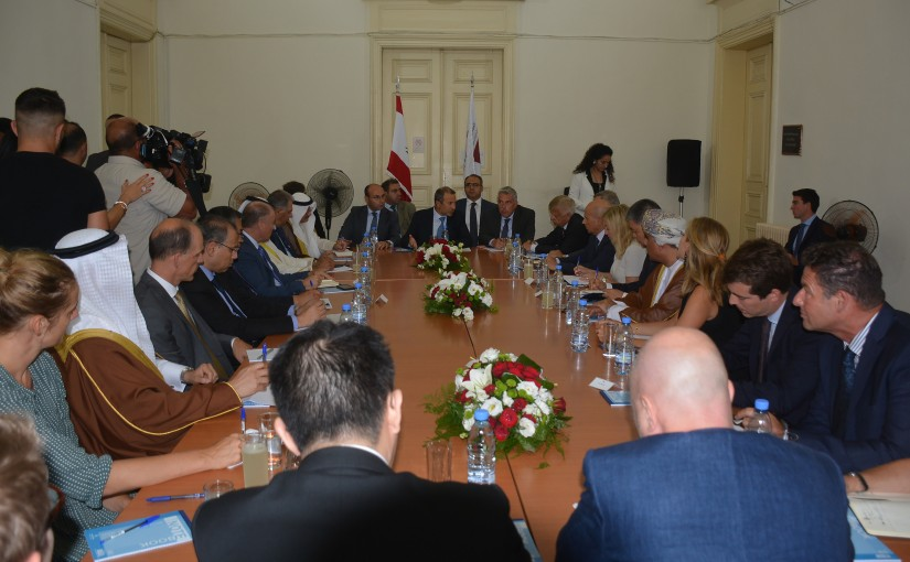 Minister Gebran Basil Meets a Delegation of Ambassadors of Countries Donors & Concerned of UNRWA