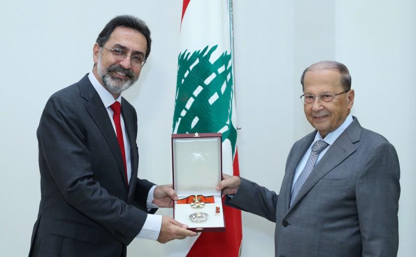 President Michel Aoun Meets Brazilian Ambassador Georges Geraldo Kaderi