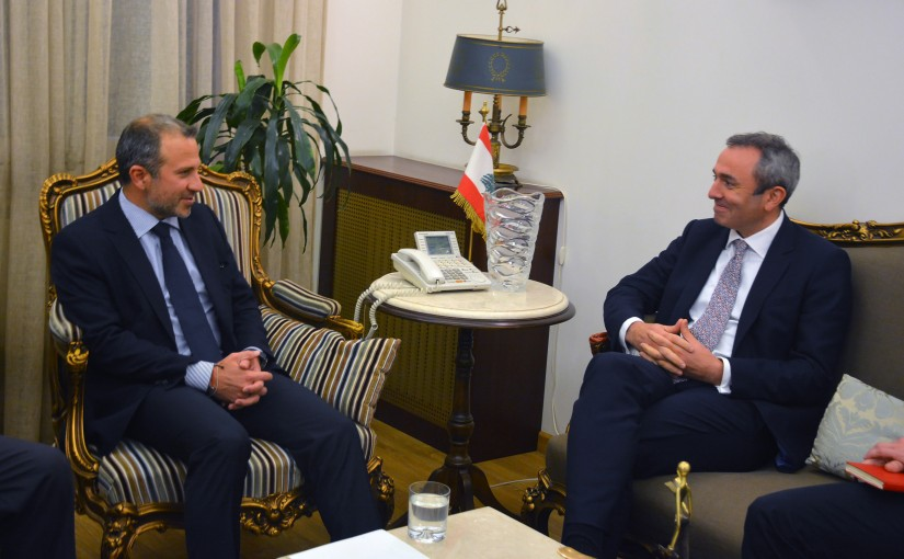 Minister Gebran Basil Meets British Ambassador