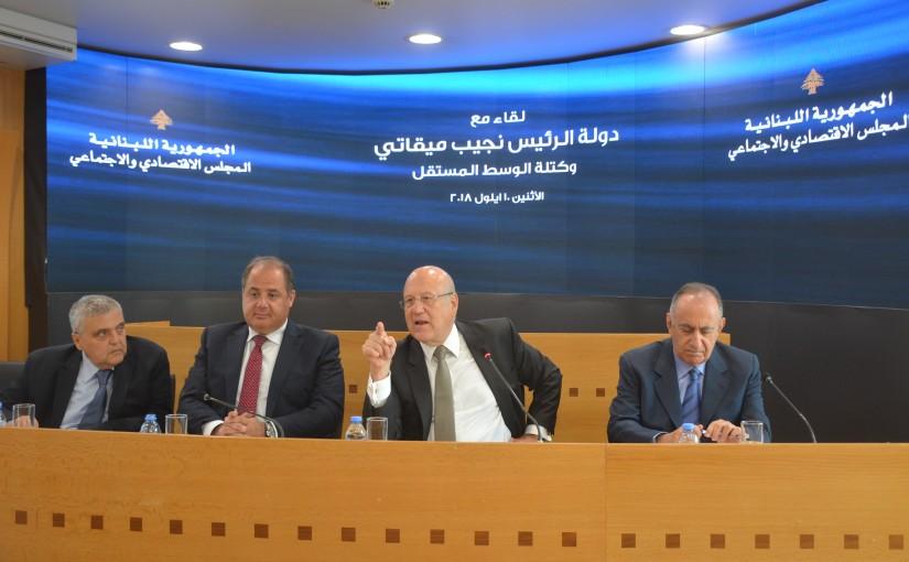 Former Pr Minister Najib Mikati Visits the Economic Council