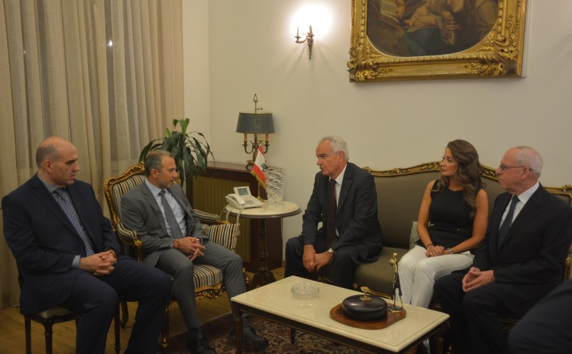 Minister Gebran Bassil meets Mr Jean mary Ouran