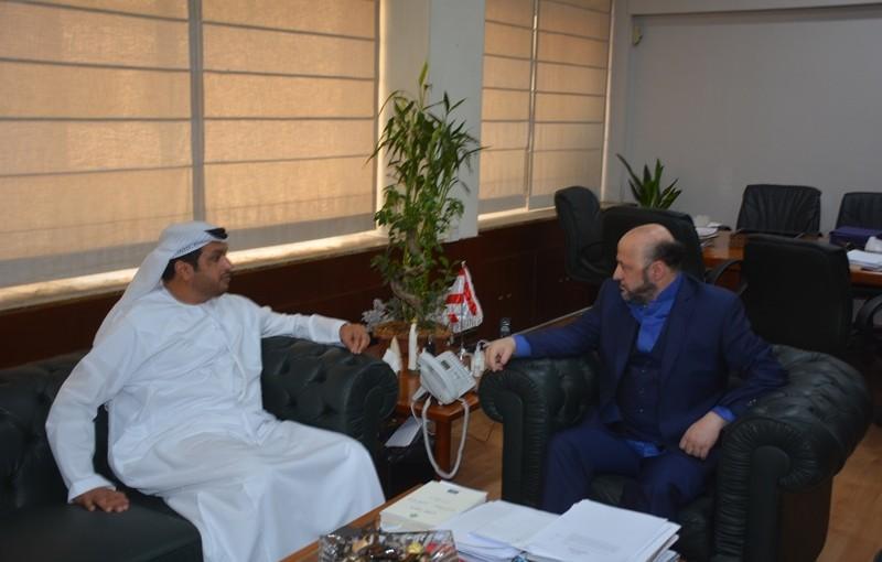 Minister Melhem Riyachi Meets Emirates Ambassdor