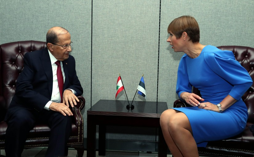 President Michel Aoun meets Estonia President Kersti Kaljulaid