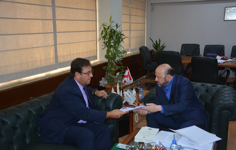 Minister Melhem Riyachi Meets French Ambassdor