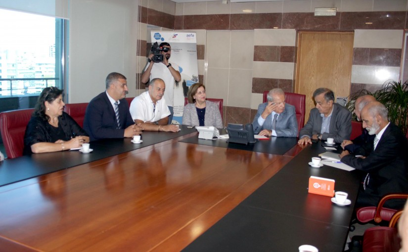 Minister Marwan Hemedeh Meets a Delegation of Teachers of Secondary Education