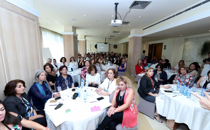 Handouts Certificates to Women who Participated in a Training Program to Promote women Political Participation at the Local and National Levels in Lebanon