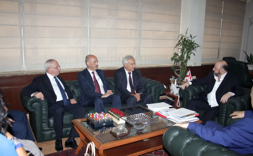 Minister Melhem Riachi meets Mr Jean mary Ouran