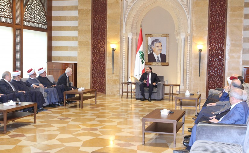 Pr Minister Saad Hariri meets Mr Omar Mescawi with a Delegation