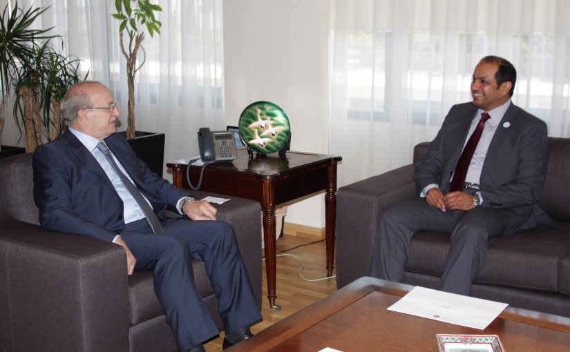 Minister Ghattas Khoury Meets Emirates Ambassador