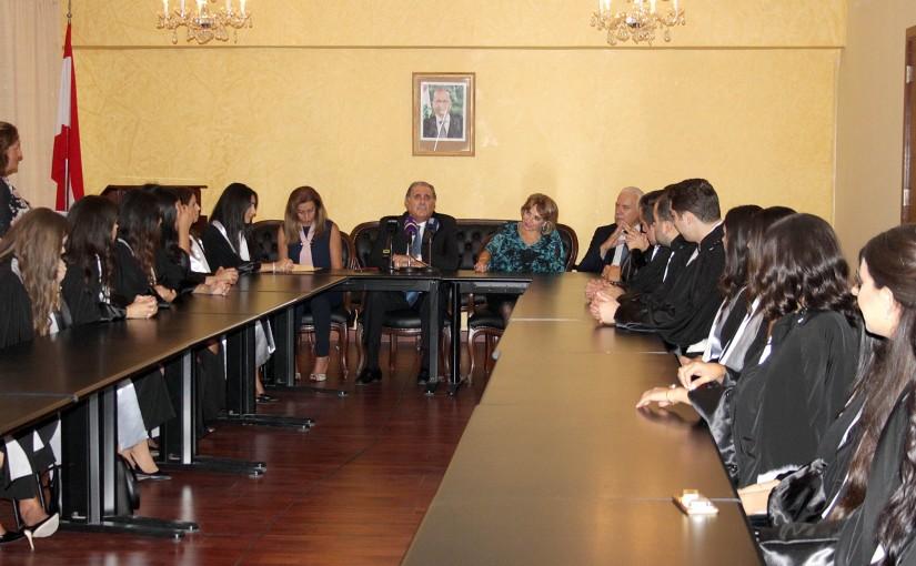 Minister Selim Jreysati Meets a Delegation of Gradual Judges