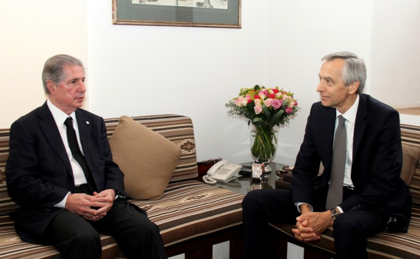 Former President Amine Gemayel Meets Mr Jan Figel