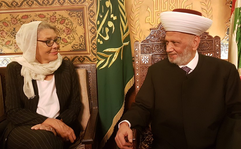 Mufti Abdel Latif Derian Meets United Nations Acting Special Coordinator for Lebanon Pernille Dahler Kardel