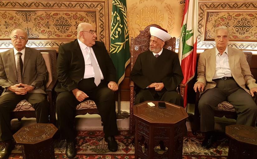 Mufti Abdel Latif Derian Meets General Mostafa Hemden