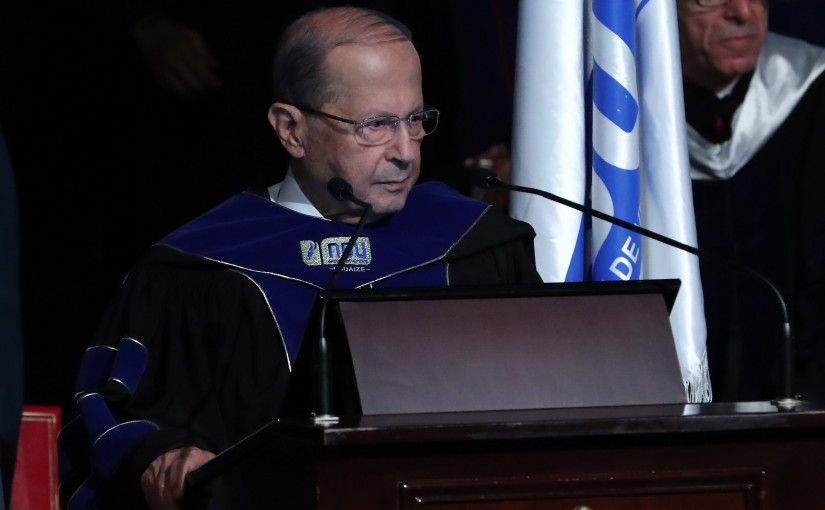 NDU University Honoring President Michel Aoun
