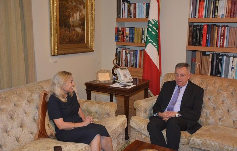 Former Pr Minister Fouad Siniora Meets Norway Ambassador