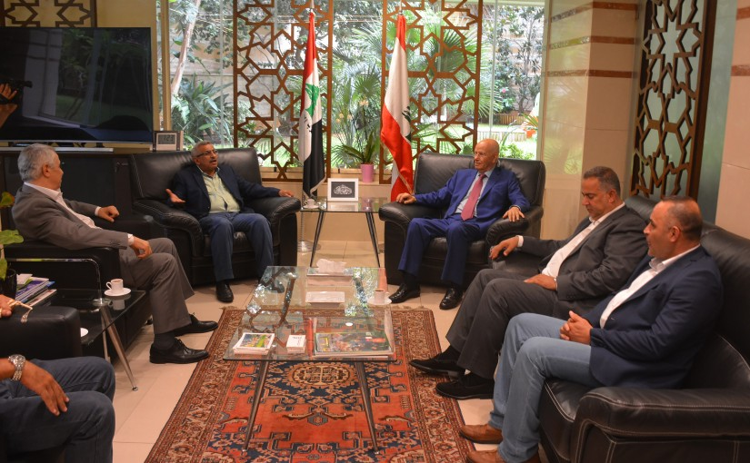 MP Abdel Rahim Mrad Meets MP Ousama Saed