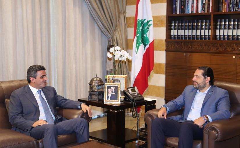 Pr Minister Saad Hariri meets MP Ziad Hawat