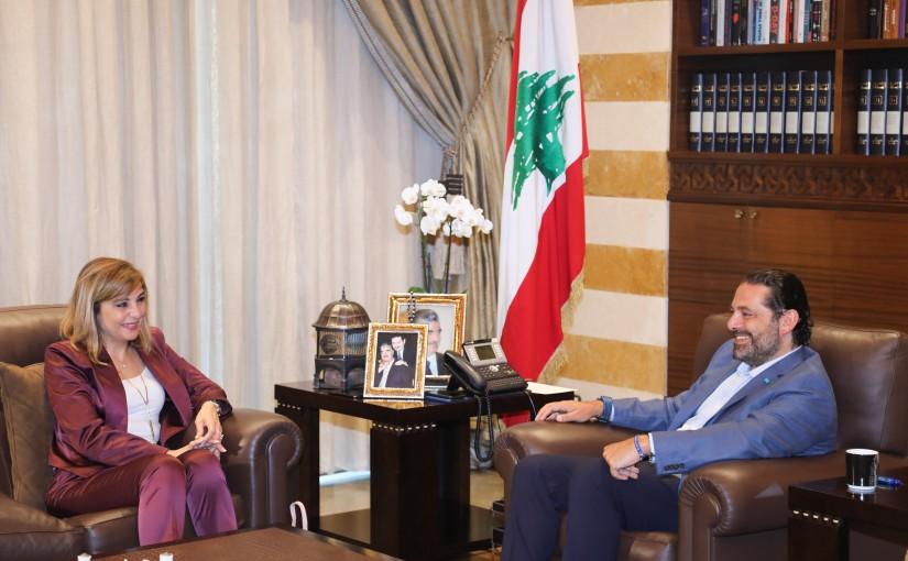 Pr Minister Saad Hariri meets Mrs Nadra Fawaz