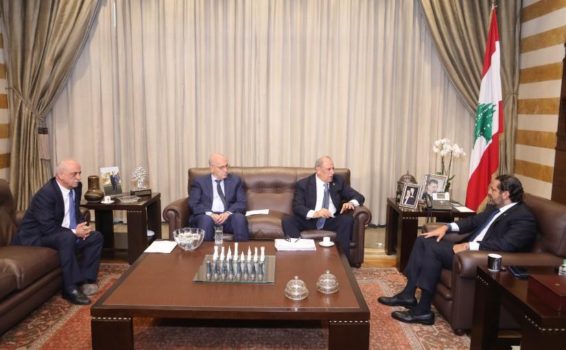 Pr Minister Saad Hariri meets Minister Jamal Jarrah with a Delegation