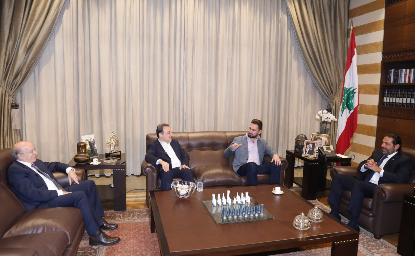 Pr Minister Saad Hariri meets MP Taymour Jounblat with a Delegation