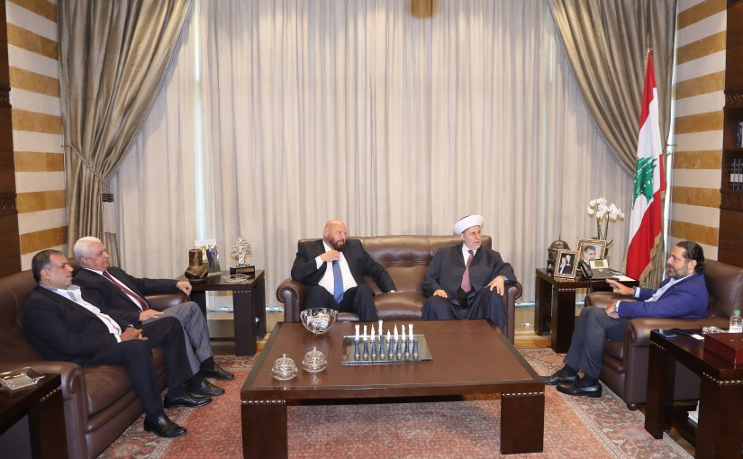 Pr Minister Saad Hariri meets Mufti Maleck Shaare with a Delegation
