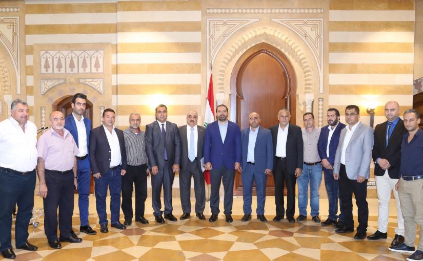 Pr Minister Saad Hariri meets a Delegation from Barja Municipality