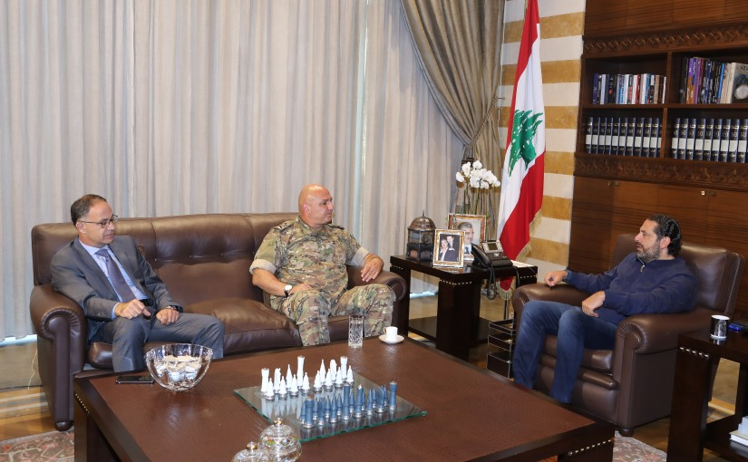 Pr Minister Saad Hariri meets Head of Lebanese Army General Joseph Aoun