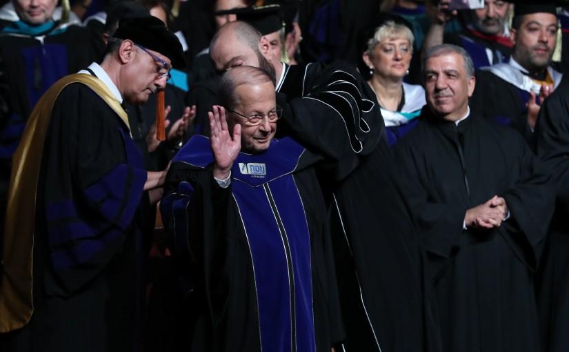 President Michel Aoun Attends the Graduation of NDU Students