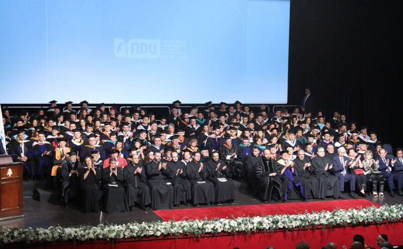 President Michel Aoun Attends the Graduation of NDU Students