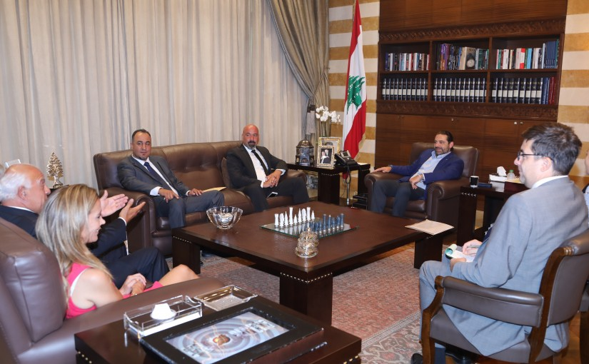 Pr Minister Saad Hariri meets a Delegation from Lebanese Consul
