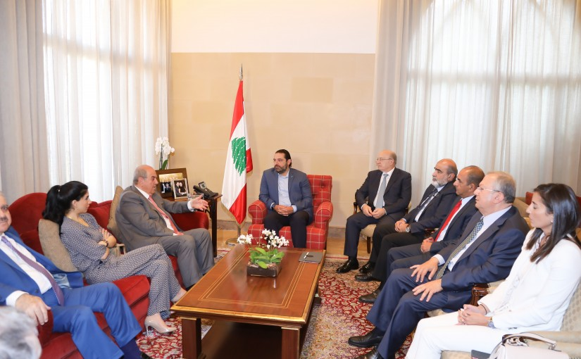 Pr Minister Saad Hariri meets Mr Iyad Alaoui with a Delegation