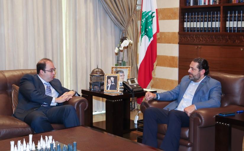 Pr Minister Saad Hariri meets Mr Hani Jneid
