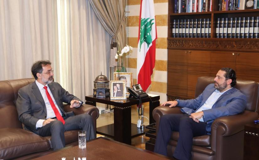 Pr Minister Saad Hariri meets Brazilian Ambassador