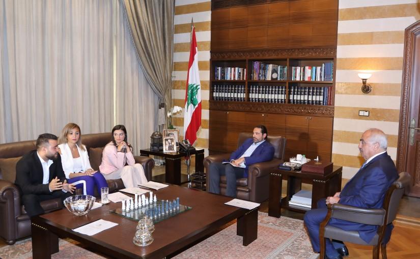 Pr Minister Saad Hariri meets a Delegation from Dalhoun Municipality