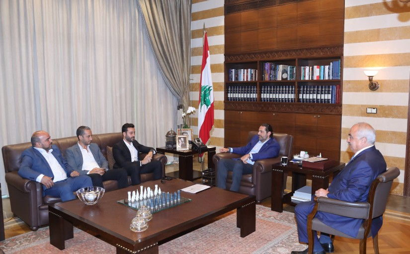 Pr Minister Saad Hariri meets Mr Saad Ramadan with a Delegation