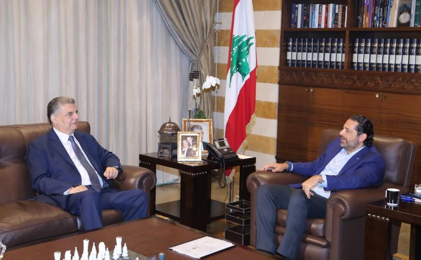 Pr Minister Saad Hariri meets Former MP Atef Majdalani