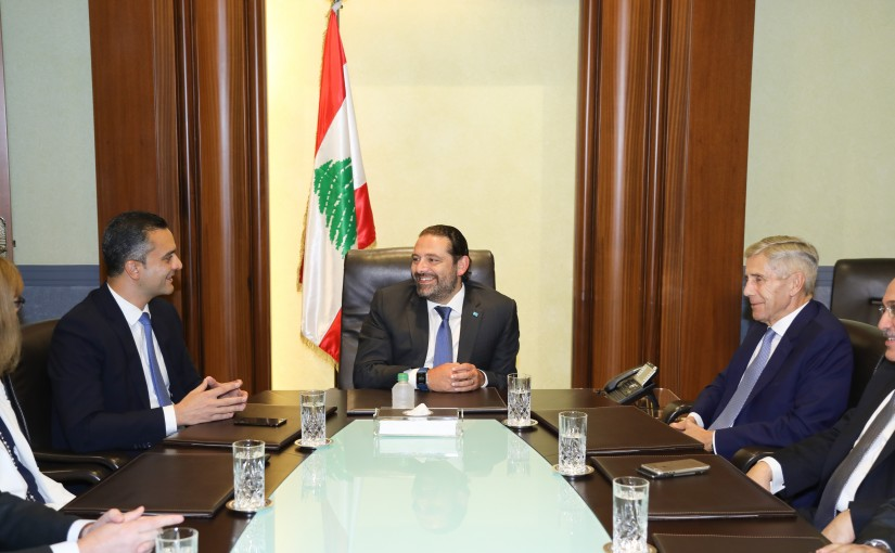 Pr Minister Saad Hariri meets a Delegation from Majid Al Futtaim Group