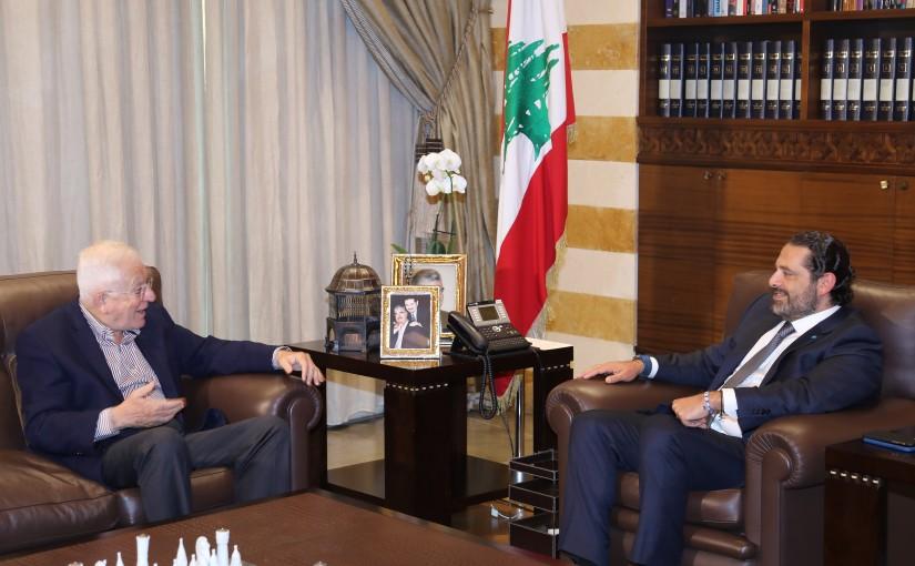 Pr Minister Saad Hariri meets Mr Abdel Kader Alam el Dine
