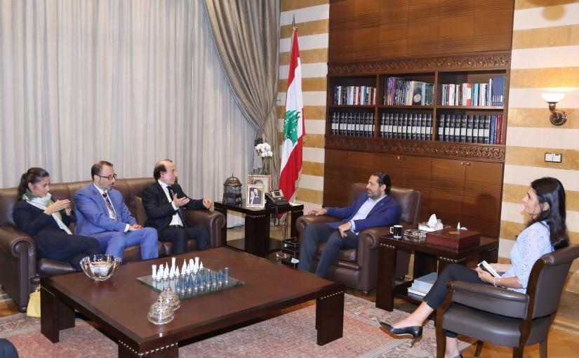 Pr Minister Saad Hariri meets a Delegation from Karakala Families