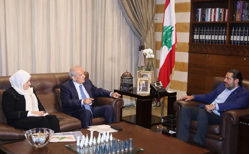 Pr Minister Saad Hariri meets Minister Marwan Hemade & MP Bahiya Hariri