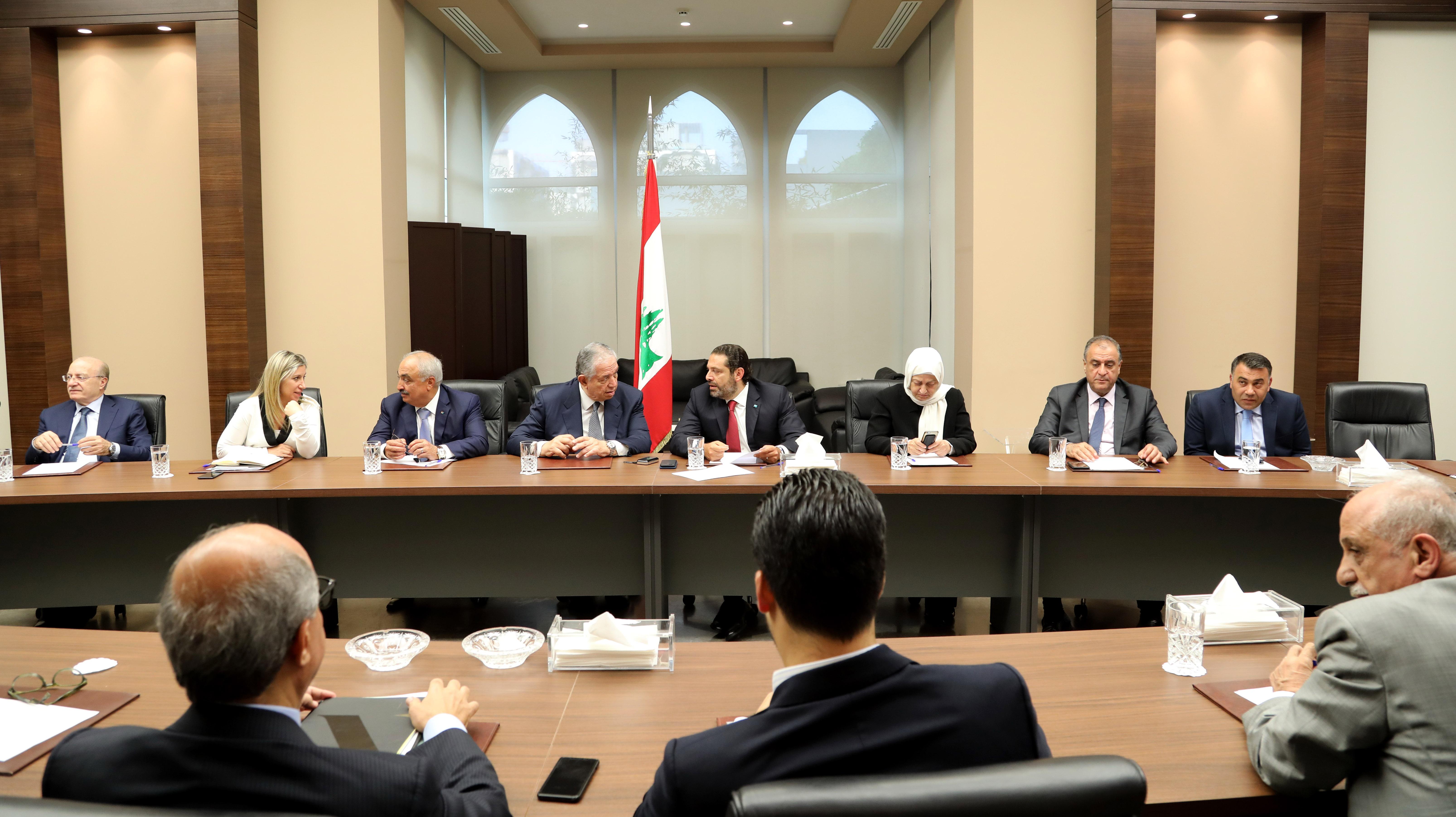 Pr Minister Saad Hariri meets a Delegation from Almustaqbal MPs Bloc 2