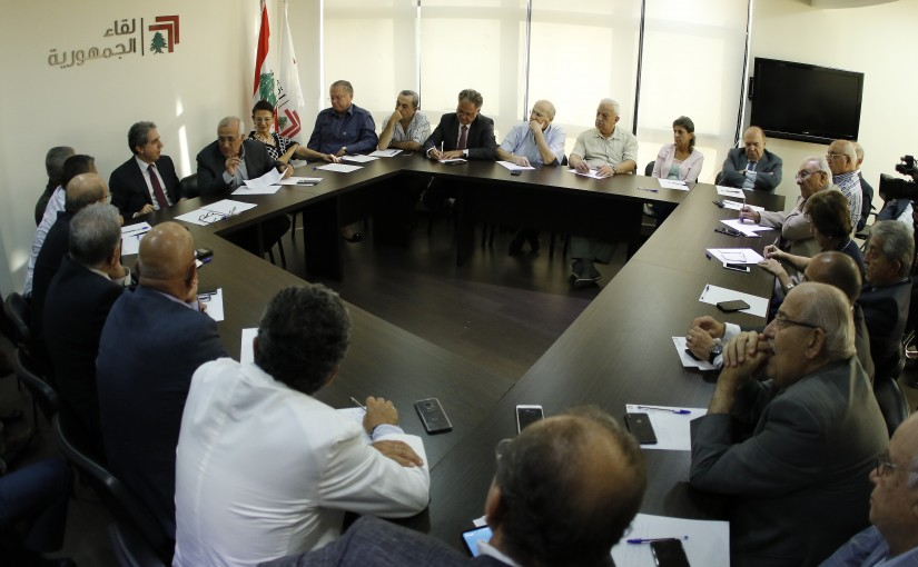 Former President Michel Sleiman Heading The Republican Gathering Meeting