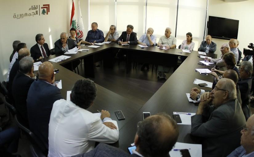 Former President Michel Sleiman Heading The Republican Gathering Meeting