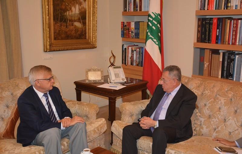 Former Pr Minister Fouad Siniora Meets Russian Ambassador