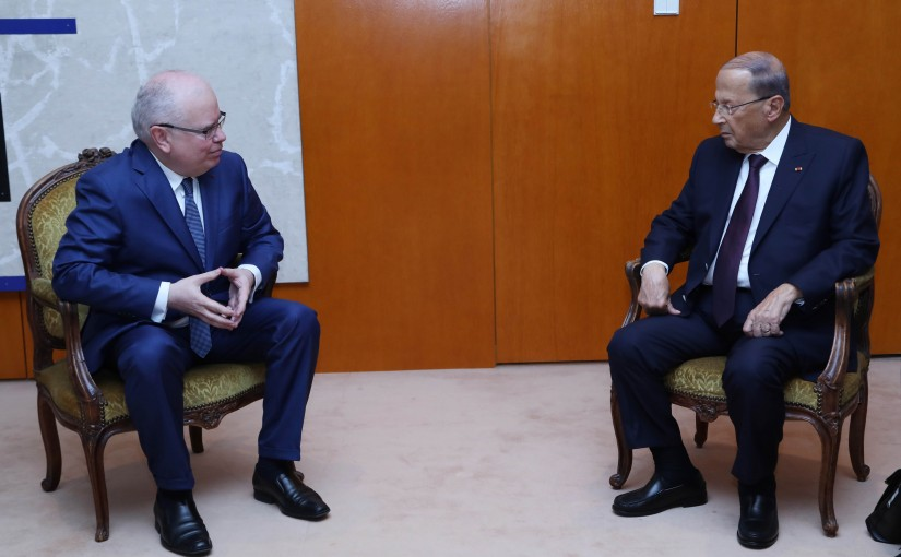President Michel Aoun meets Mr Patrick Gerard