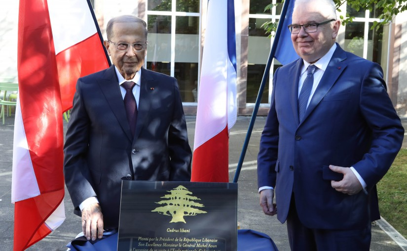 President Michel Aoun Visits The ENA Center in Strasbourg